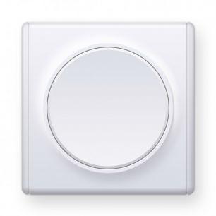 Выключатель одинарный, цвет белый